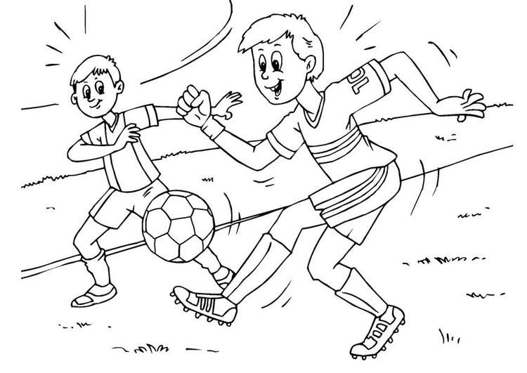Dibujo para colorear fútbol - Img 25983