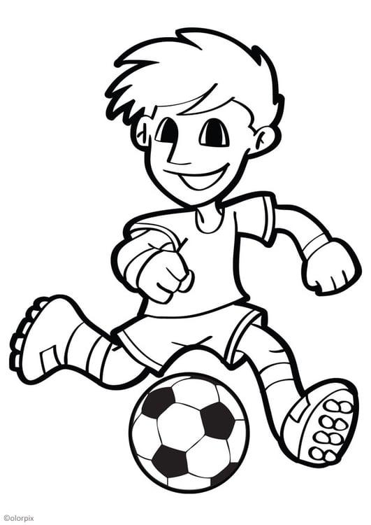 Dibujo para colorear fútbol - Img 26040