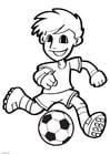 Dibujo para colorear fútbol