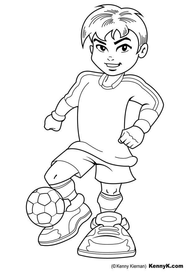 Dibujo para colorear futbolista - Img 20060