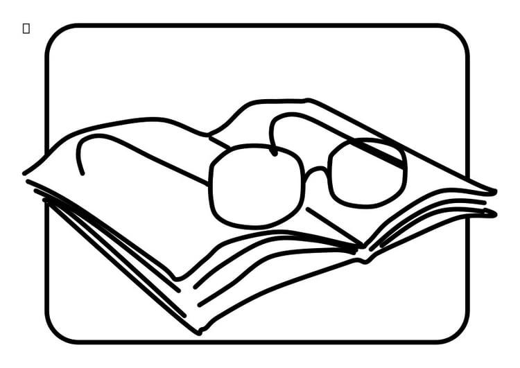 Dibujo para colorear gafas de lectura - Img 22744