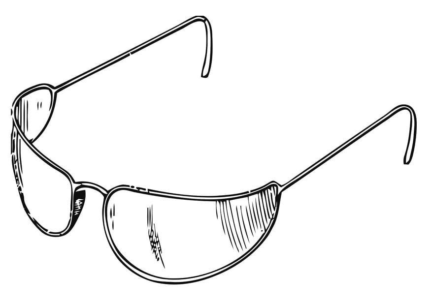 Dibujo para colorear gafas de sol img 19416 for Sole disegno da colorare