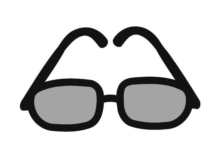 Dibujo para colorear gafas de sol  Img 19415