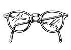 Dibujo para colorear gafas