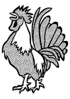 Dibujo para colorear gallo