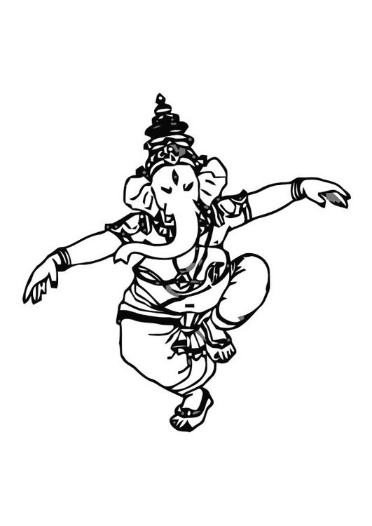 Dibujo para colorear Ganesha - Img 10999