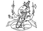 Dibujo para colorear Ganesha