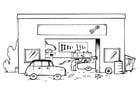 Dibujo para colorear Garaje - sin texto