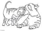 Dibujo para colorear Gatitos