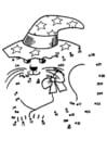 Dibujo para colorear Gato de halloween