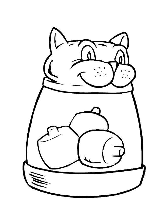 Dibujo para colorear Gato - Img 10594