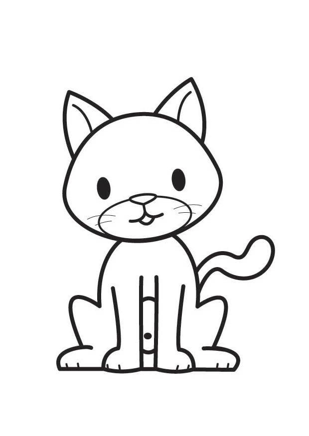 Dibujo para colorear gato - Img 17886