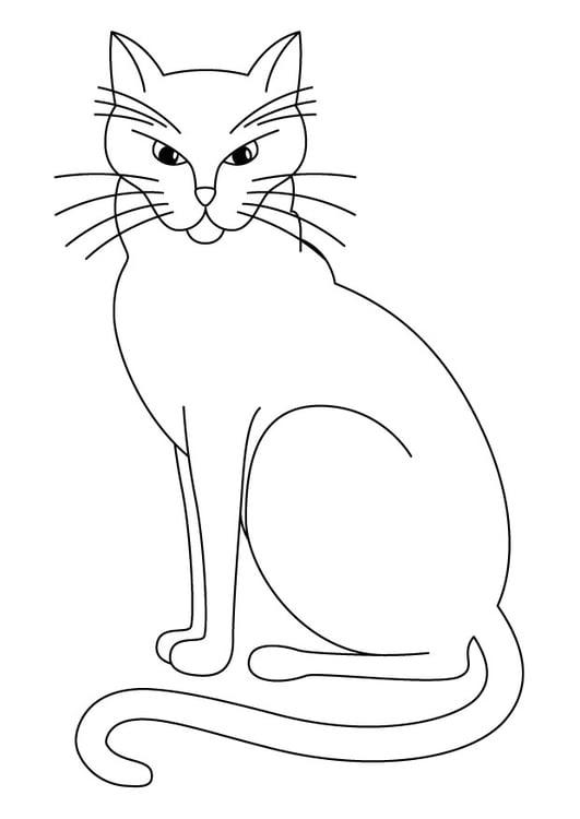 Dibujo para colorear Gato - Img 11582