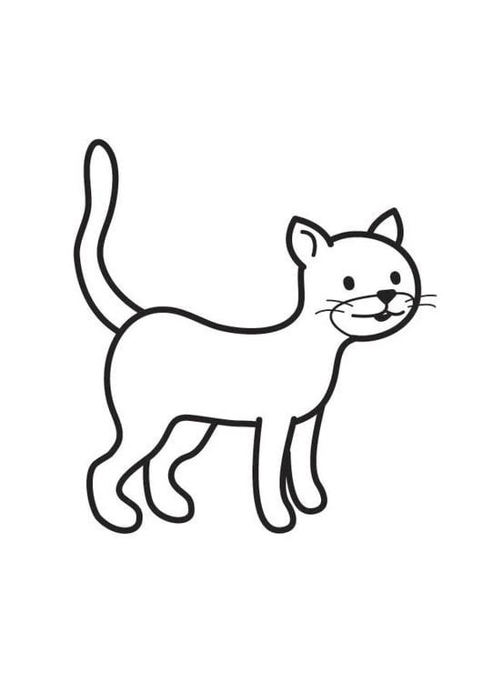Dibujo Para Colorear Gato Img 17887