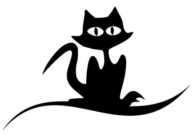 Contemporáneo Gato Halloween Para Colorear Ornamento - Dibujos de ...