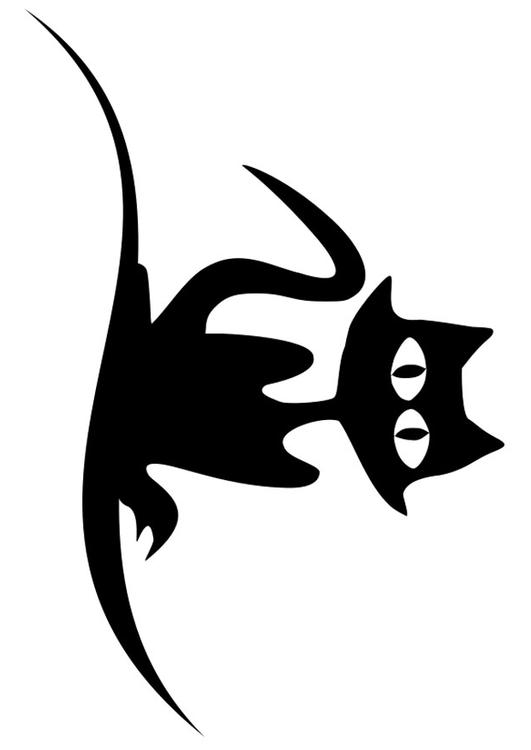 Dibujo para colorear gato negro - Img 19739