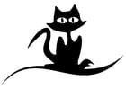 Dibujo para colorear gato negro