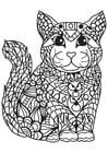 Dibujo para colorear gato