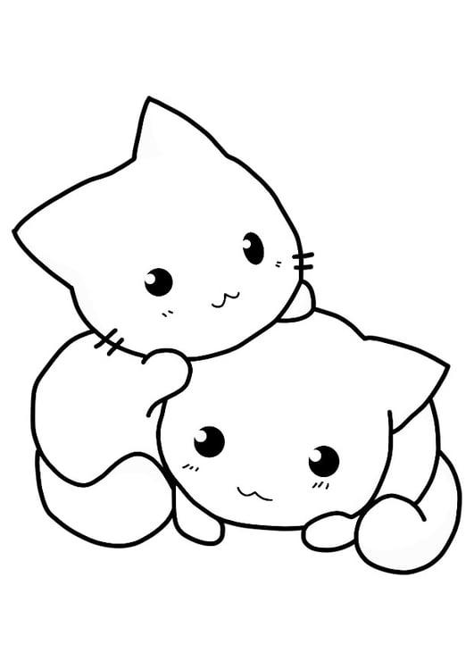 Dibujo Para Colorear Gatos Img 21154 Images