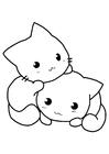 Dibujo para colorear gatos