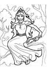 Dibujo para colorear Gellie, Princesa de los árboles