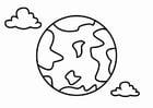 Dibujo para colorear geografía