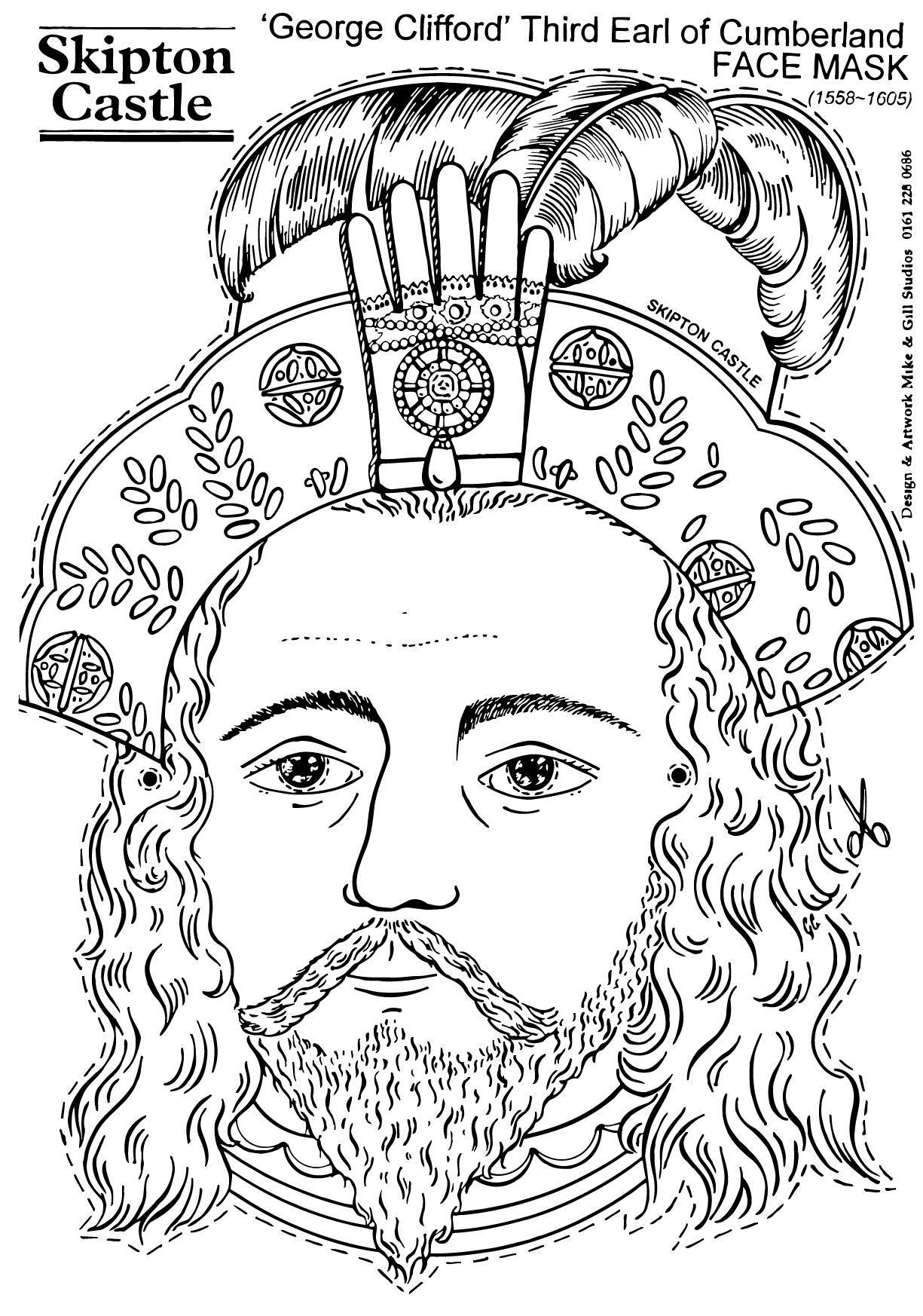 Dibujo para colorear George Clifford, Third Earl of Cumberland ...