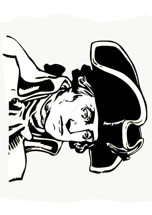 Dibujo para colorear George Washington - Img 15738