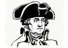 Dibujo para colorear George Washington