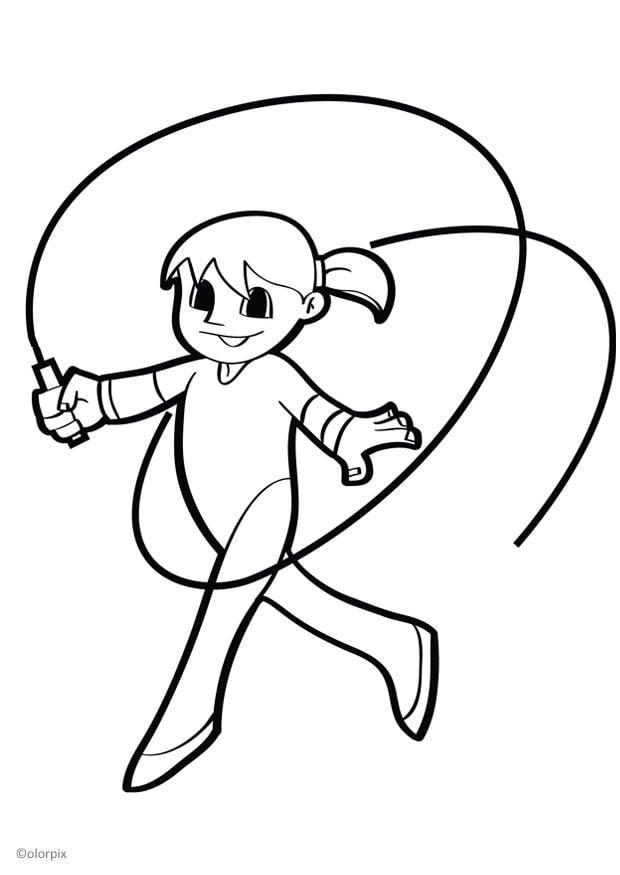 Dibujo para colorear gimnasta - Img 26041
