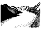 Dibujos para colorear glaciar