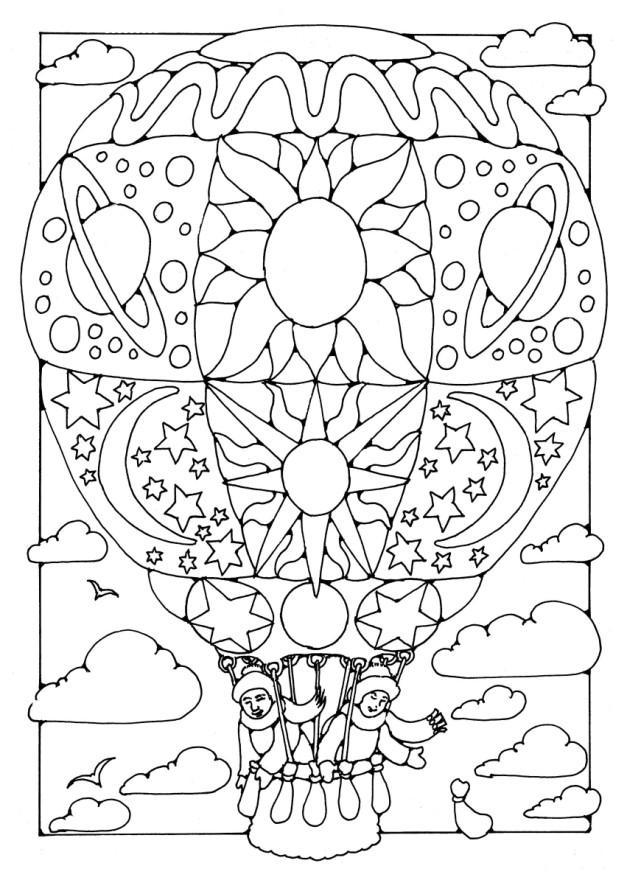 Worksheet. Dibujo para colorear Globo aerosttico  Img 16349