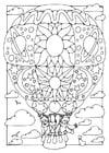 Dibujo para colorear Globo aerostático