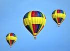 Dibujo para colorear globos aerostáticos