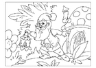 Dibujo para colorear gnomo