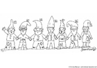Dibujo para colorear Gnomos 1 - 7
