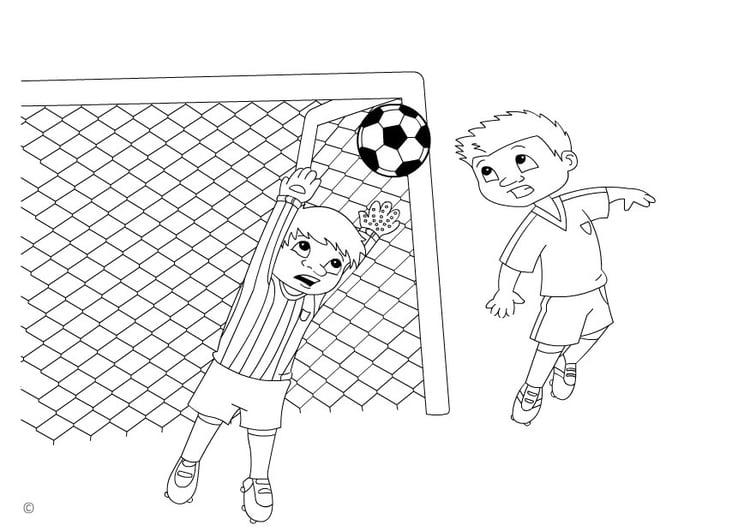 Dibujos De Porteros De Futbol Stunning Futbol Dibujo: Dibujo Para Colorear Gol