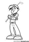 Dibujo para colorear Golf