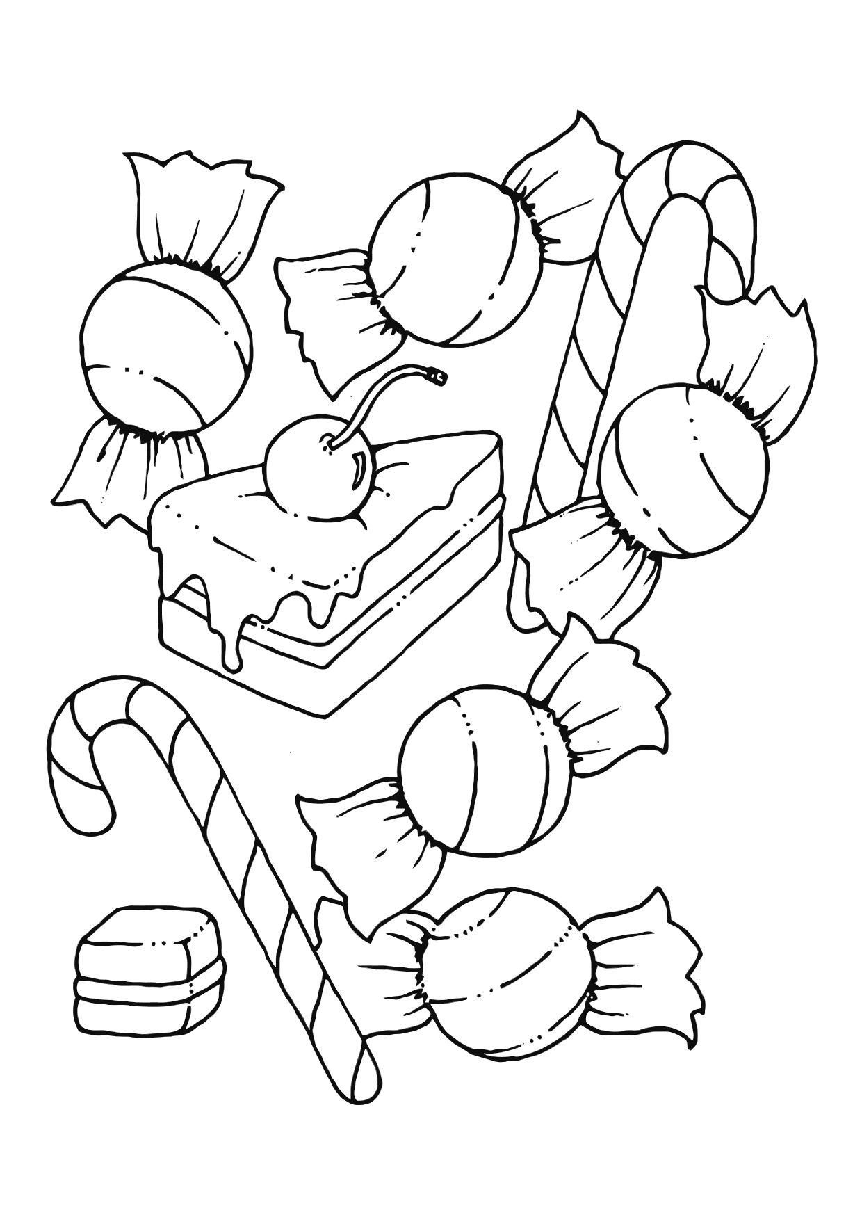 anime candy coloring pages - photo#30