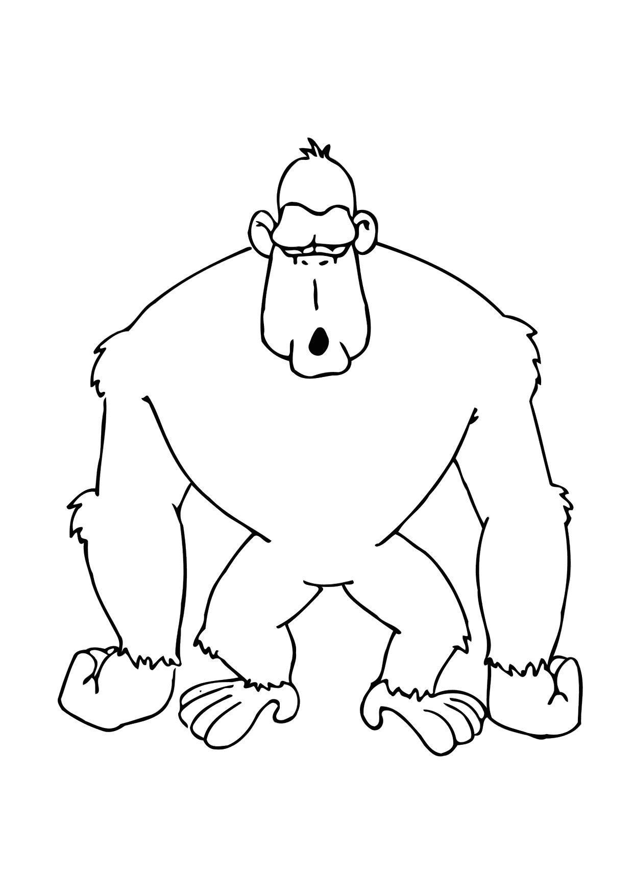Dibujo para colorear Gorila - Img 11615