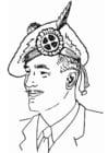 Dibujo para colorear Gorra escocesa