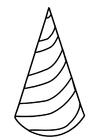 Dibujo para colorear gorro de cumpleaños