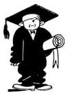 Dibujo para colorear graduado