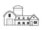 Dibujo para colorear granja