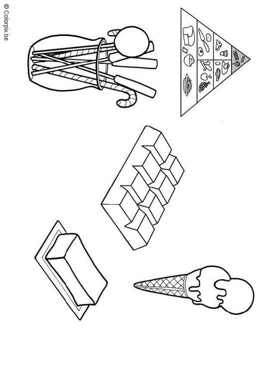 Dibujo para colorear Grasas y azúcares - Img 5676