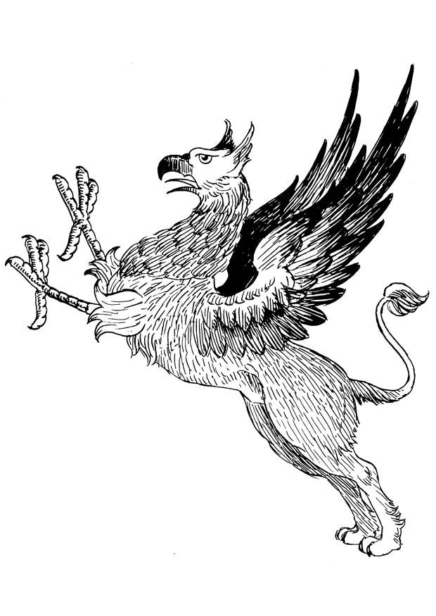 Dibujo para colorear grifo img 16648 for Grifo dibujo