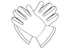 Dibujo para colorear guantes