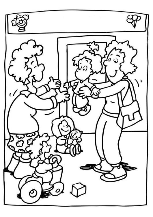 Dibujo para colorear Guardería - escuela infantil - Img 6518