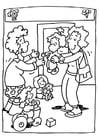 Dibujo para colorear Guardería - escuela infantil