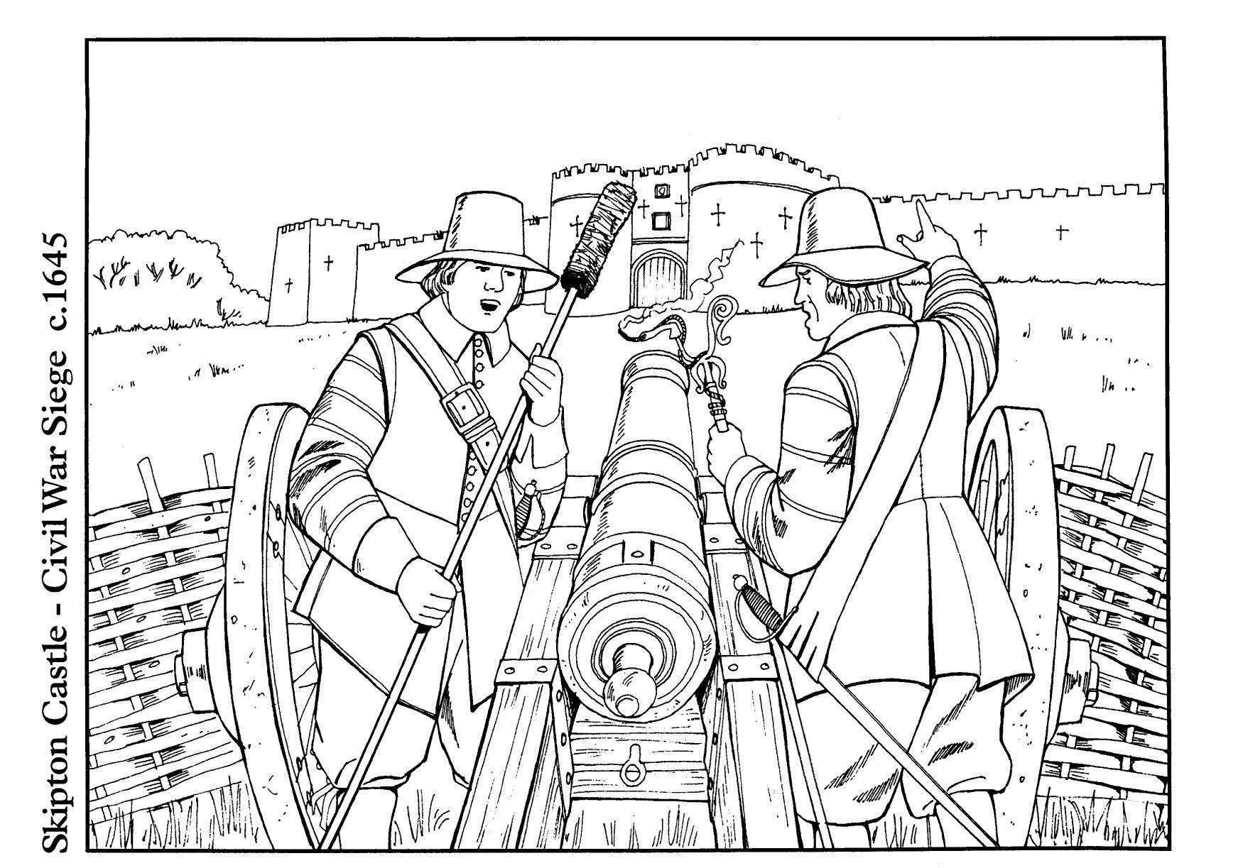 Dibujo para colorear Guerra civil - Img 14896